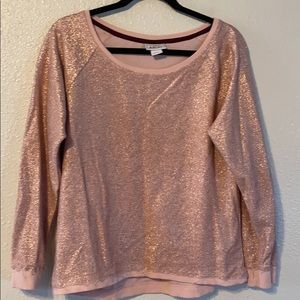 Ariat rosegold sparkle light weight top